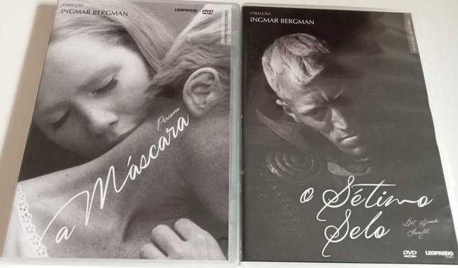 """DVDs Ingmar Bergman: """"A máscara"""" e """"O sétimo selo"""". Raros."""