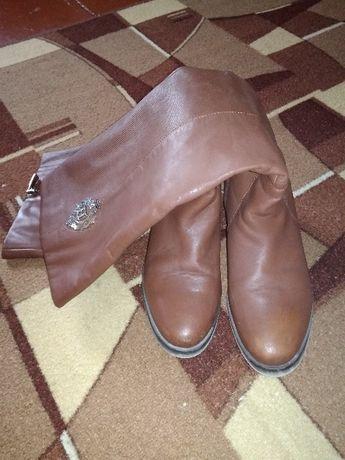 Продам кожаные осенние сапоги
