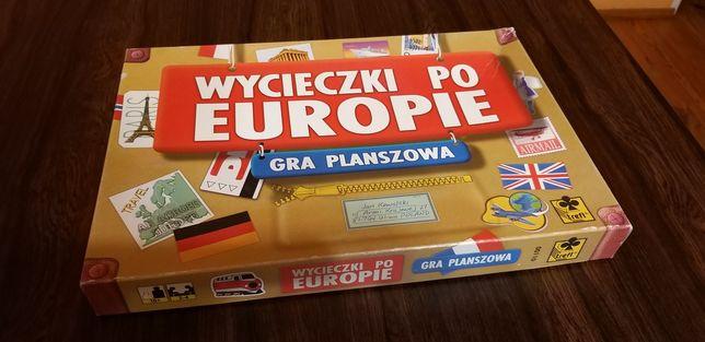 Gra Wycieczki po Europie - kompletna edukacyjna planszówka