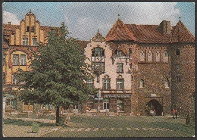 pocztówka - Lidzbark Warmiński 1977 - Wysoka Brama - kamieniczki