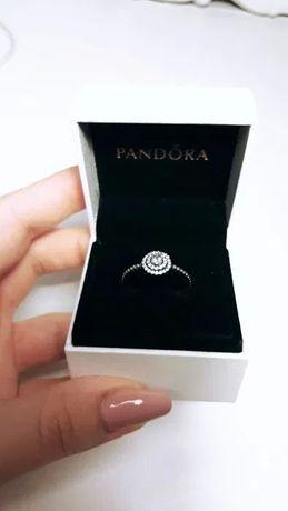 Nowy Pierścionek Pandora ze srebra cyrkonia