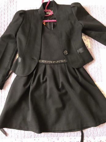 Школьный сарафан и пиджак для девочки на рост 134 см