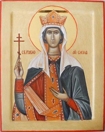 Рукописная икона Святой равноапостольной Елены.