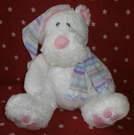 Мягкая игрушка белый медведь.