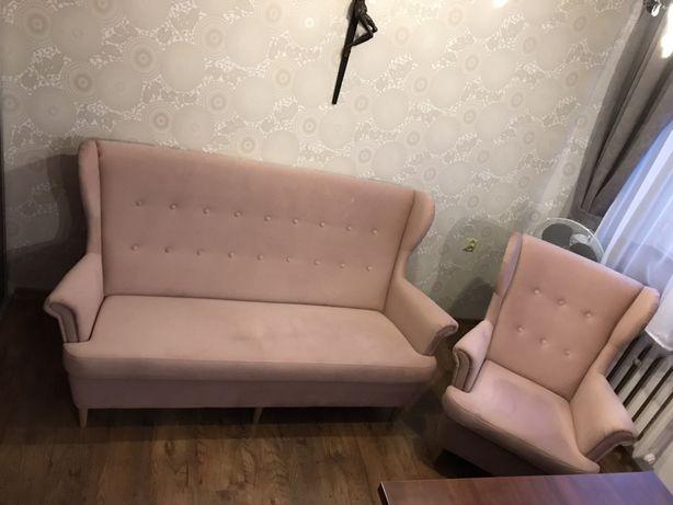 Sofa z fotelem bodzio