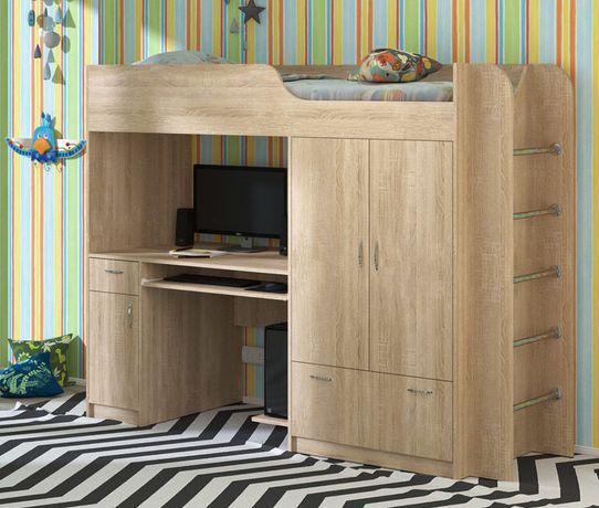Функціональне ліжко-горище зі столом та шафою Дует-1