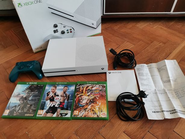 Xbox One S Niebieski Pad Gry Pudełko Faktura Zamiana Okazja