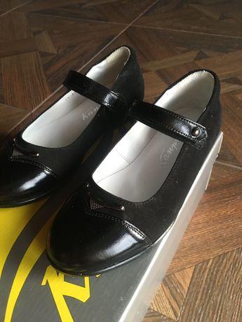Туфли для школы Каприз 31р 19,5 см Кожа! Новые!