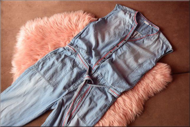 Kombinezon jeansowy 36/38 na lato, długie spodnie