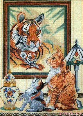 Набор CC80896 Рыжие кошки и тигры (Ginger Cats and Tigers)