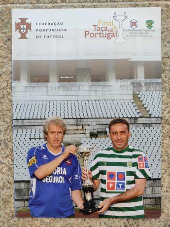 Programa/revista final Taça Portugal 2007 Sporting-Belenenses