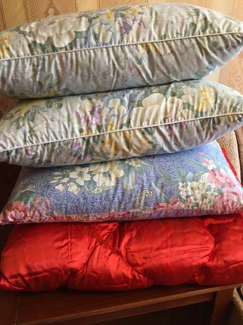 Подушки и одеяло пуховое