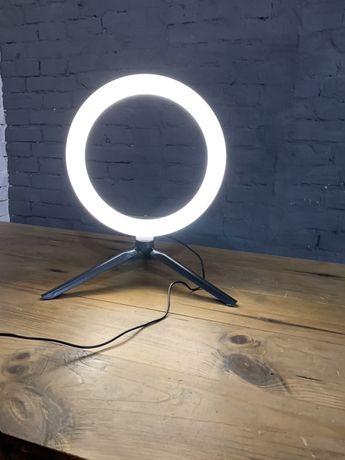 Кольцевая LED лампа + штатив + креплением под телефон + пульт