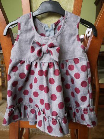 Sukienka dla małej dziewczynki r. 74