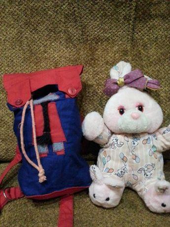Детский рюкзак/сумка.Тканевый!