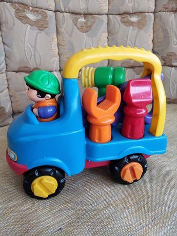 Детская машинка с инструментами, машина