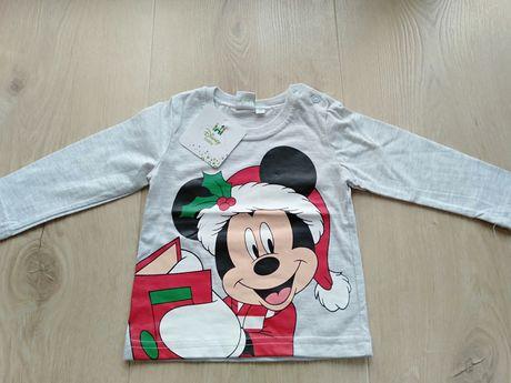 Świąteczna bluzeczka Disney rozmiar 74