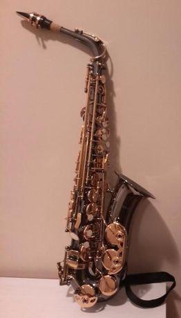 Saxofone Alto Bernard BAS-430BK (praticamente novo) lacado em preto