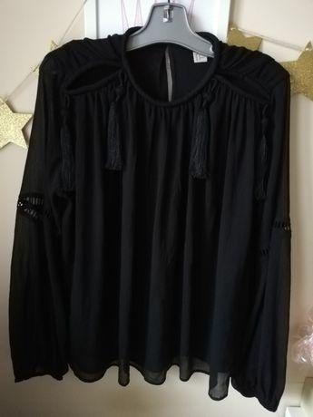 Koszula bluzka boho tunika h&m trend fredzle marant czarna hit 40