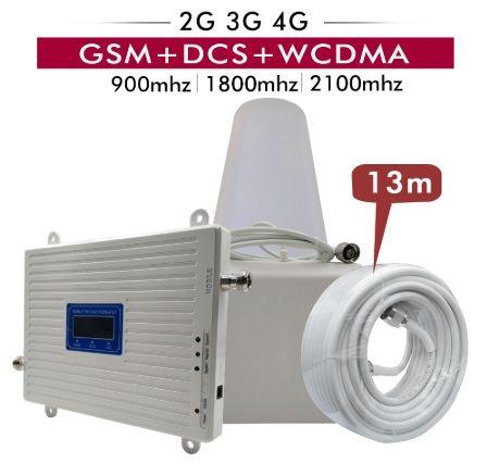 Amplificador antena sinal telemovel 2G 3G 4G 900/1800/2100Mhz NOVO