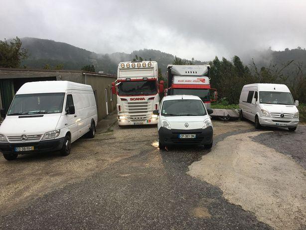 Transportes Portugal/França/Bélgica.