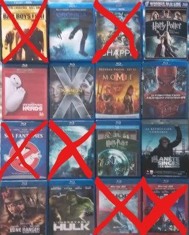 9 filmes em blu-ray (vendo a unidade)