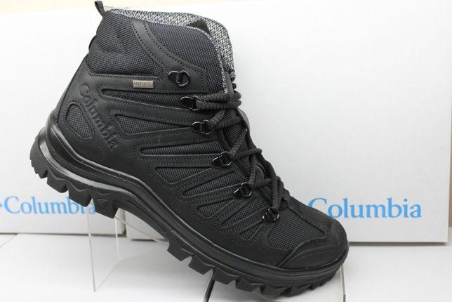 Черные ботинки-кроссовки Columbia на Gore-Tex зимние .(829гортекс)