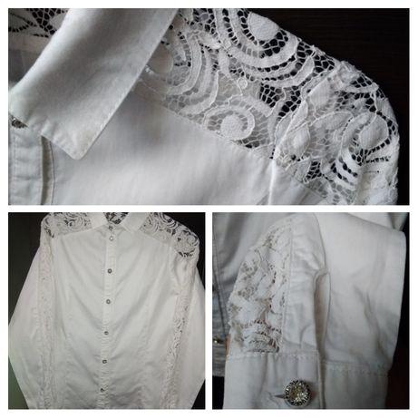 "Блузка/рубашка белая ""Зиронька"" на рост 158см."