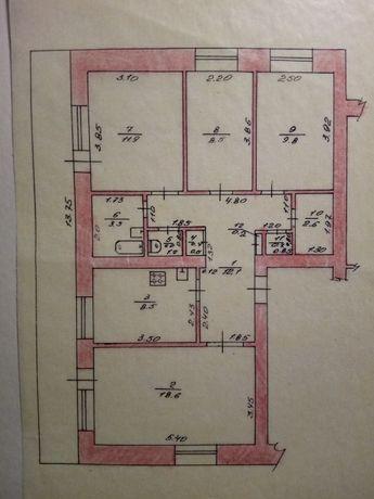 продається 4-х кімнатна квартира місто христинівка