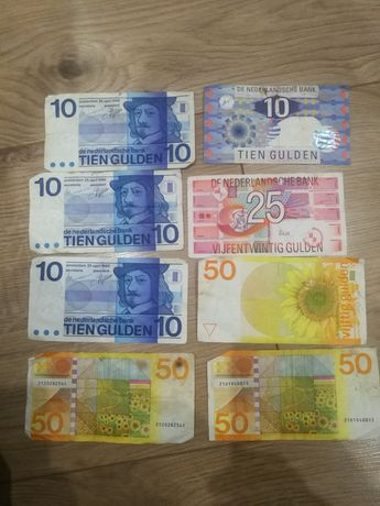 Banknot banknoty Gulden holenderski