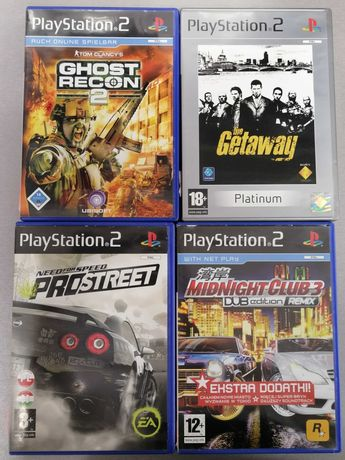 Gry na PS2:Midnight Club3,NFS Pro Street,The Getaway,Ghost Reon 2