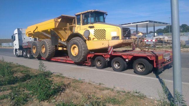 Transport maszyn budowlanych i rolniczych, gabarytów, niskopodwozie