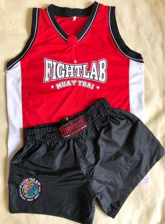 Костюм для тайского бокса FightLab, шорты и майка muay thai