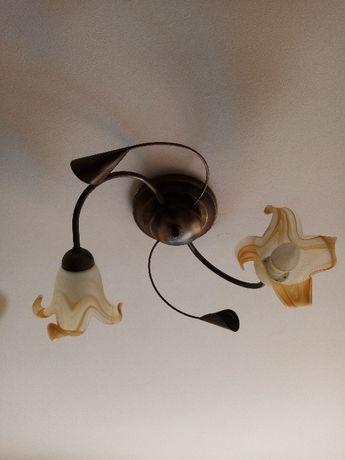 Lampa sufitowa z dwoma kloszami