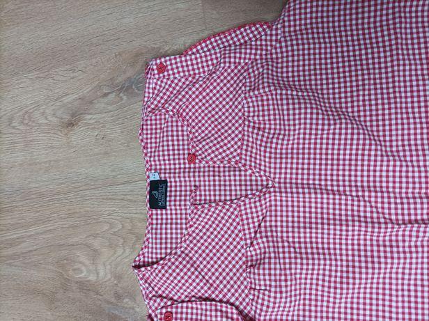 Bluzka bluzeczka czerwona w kratkę xl po ciąży może być