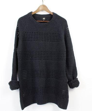 Sweter klasyczny h&M L 180/108 A WEŁNA