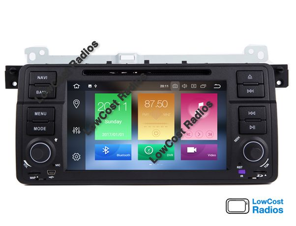 "Rádio BMW E46 • Android • 2DIN 7"" HD 2GB/16GB Wifi GPS Serie 3 320"