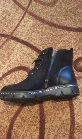 Женские ботинки эко замша