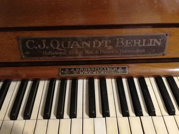 Pianino - C. J. Quandt, Berlin - rok produkcji 1910