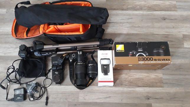 Pilnie sprzedam Nikon D3000 zestaw zamiana na Go pro
