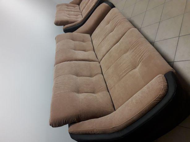 Kanapa+sofa regulowane zagłówki