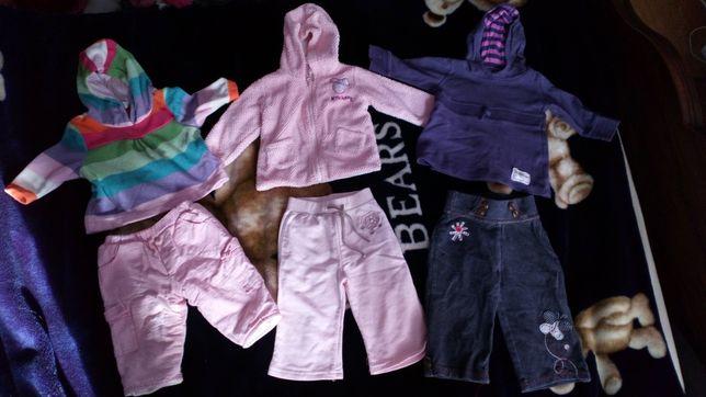 Dres dresy dla dziewczynki , rozmiar 6-9 msc
