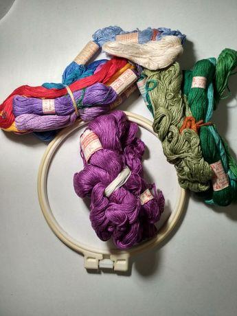 Набор для вышивки (пяльце + нити)