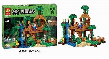 Конструктор Майнкрафт Minecraft 10471 Домик на дереве в джунглях LEGO