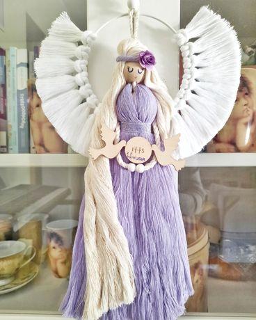 Anioł Komunia Chrzest rękodzieło pamiątka