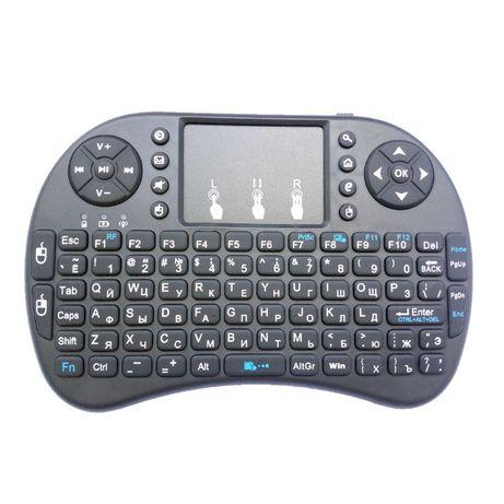 Русская аккумуляторная беспроводная USB клавиатура Rii mini i8