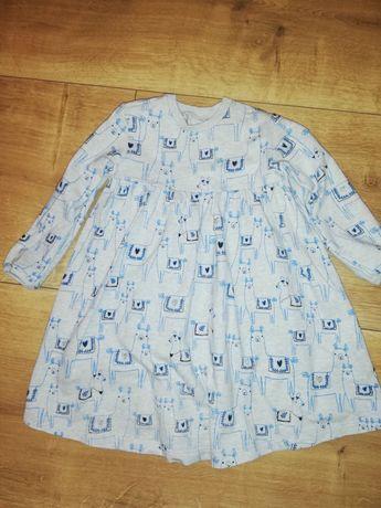 M&S sukienka dresowa 98-104 jak nowa