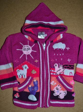 640^ Świąteczny sweter zwierzątka 0,5/1L_80 cm