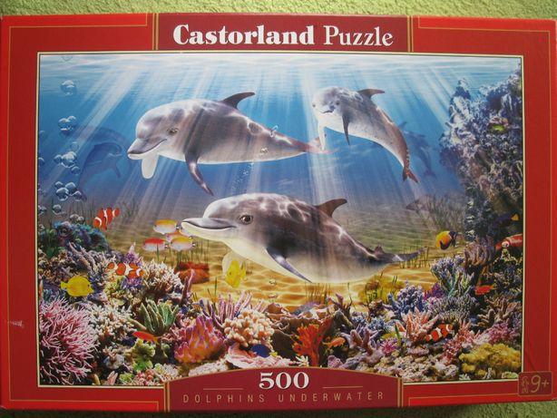 Puzzle morze delfiny 500