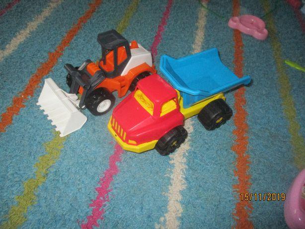 zestaw zabawek ładowarka wader i wywrotka